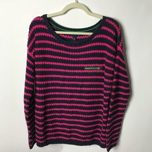 Tommy Hilfiger striped large sweater top BR1